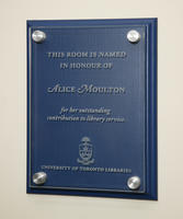 Alice Moulton Room naming ceremony