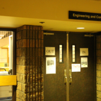 Entrance to the Engineering and Computer Science Library in the Sandford Fleming Building