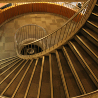 Spiral Staircase at the Engineering and Computer Science Library