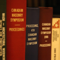 Canadian Masonry Symposium shelf selection