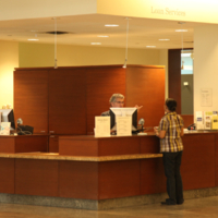 Information Desk at Gerstein Library