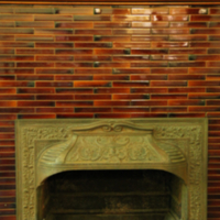 Fireplace at Gerstein Library