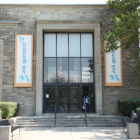 This is the main entrance to the Sigmund Samuel Library/Gerstein Library.