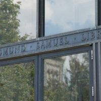 Entrance to Gerstein Library