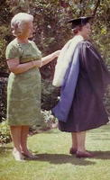 Alice Moulton at a library school graduation ceremony