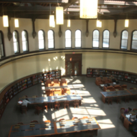 Overhead View of the Heritage Reading Room