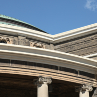 Close-Up of the Roof on Convocation Hall