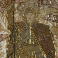 Close-up of Tapestry at Gerstein Library