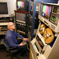 Media Commons playback equipment and media technician