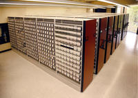 Media Commons microfilm shelves