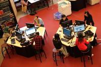 Computer Terminals and Stacks at Robarts Library
