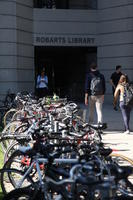Bike Racks and Entrance to Robarts Library