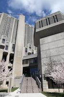 Entrance to the Robarts and Fisher libraries