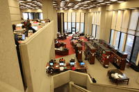 Robarts Library reference desk and reading room