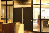 Entrance to the Centre for Teaching Support and Innovation Reference and Research Services (CTIS)