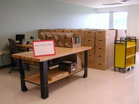 Downsview Campus Storage Facility barcoding station