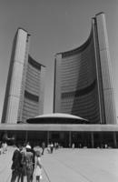 Pollution Probe - members address meeting at Toronto City Hall