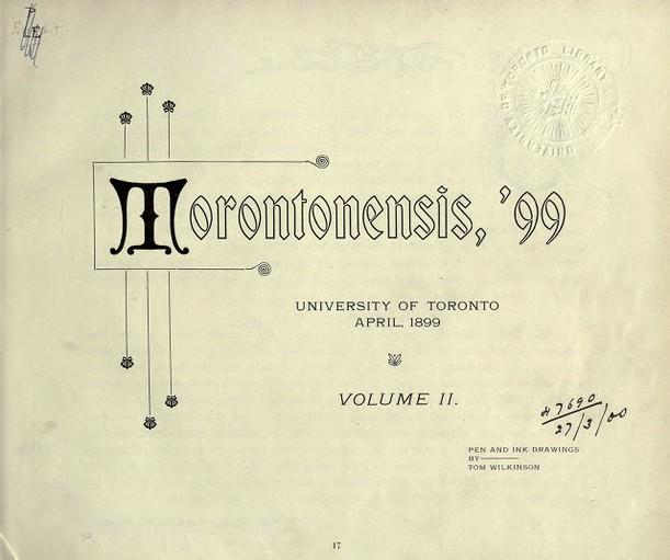 Torontonensis, 1899 (Vol. 2)