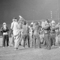The Lady Godiva Memorial Band at the 1974/75 College Bowl