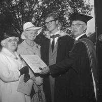 L.E. Jones with family members and graduating son, William Jones