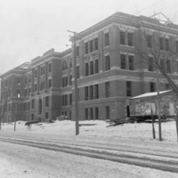 Chemistry and Mining Building under construction