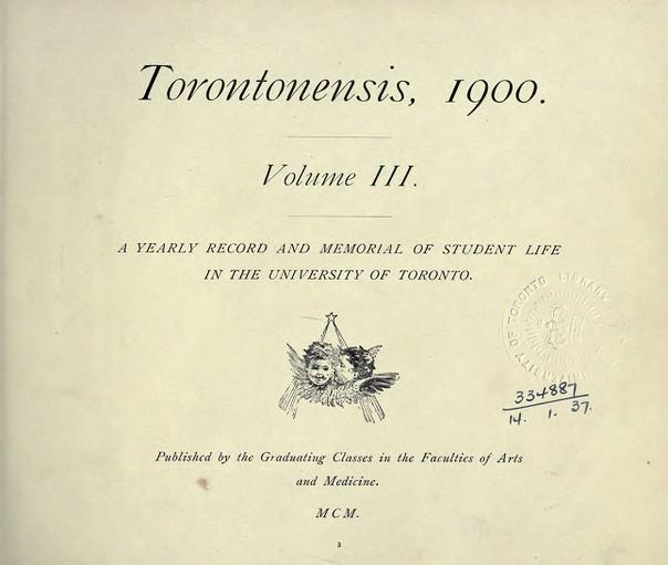 Torontonensis, 1900 (Vol. 3)