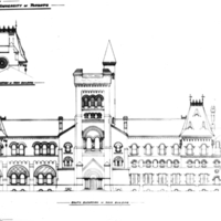 Architectural plan for the restoration of  University College