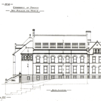 Architectural drawing - University of Toronto, New Building for Museum, south elevation