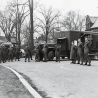 C.O.T.C. - First Aid vehicle in front of University College