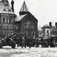 C.O.T.C. - Howitzers in front of University College