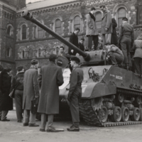 C.O.T.C. - tank in front of University College