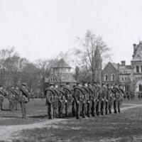 C.O.T.C. parade for camp, May 3 1915
