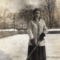 Minnie Louise Barrie of the Varsity Ladies Hockey Team