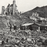 Nagasaki Atomic Bomb aftermath - Roman Catholic Cathedral 600 yrds from centre of damage