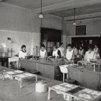 Household Science Building,cooking laboratory, Jan 1922