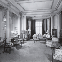 Interior view of Holwood (Flavelle House), 78 Queen's Park Crescent, showing the living room.