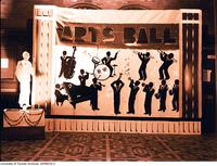 UC Arts Ball promotional display in the rotunda