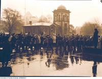 Memorial (Rememberance)  Day Service outside Hart House