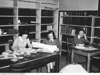 Some members of the Torontonensis staff, 1951-52.