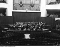 U of T Symphony Orchestra rehearsing at Convocation Hall