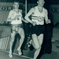 Tely-Maple Leaf Games - Men's 3 Mile Event: Bruce Kidd and british runner