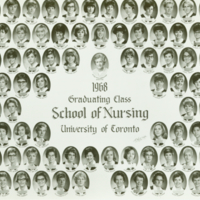 1968 Graduating Class, School of Nursing, University of Toronto
