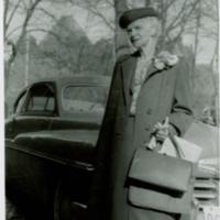"""Goodbye"" - 1952 on retirement - Director Emeritus of Nursing leaving for England"