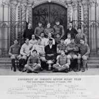 University of Toronto Senior Rugby Team, First Intercollegiate Champions of Canada, 1898