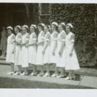 Nursing Graduates - Diploma II on Graduation Day, June 1948