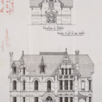 Residence for William Christie - Front   Ele