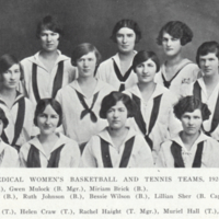 Medical Women's Basketball and Tennis Teams, 1924-1925