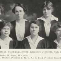 Executive of Medical Undergraduate Women's Council and Medical Y. W. C. A.