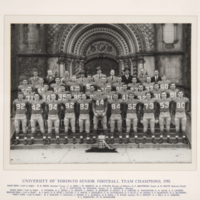 University of Toronto Senior Football Team Champions, 1951
