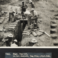 C.O.T.C. Engineers at Camp Niagara building a dugout.